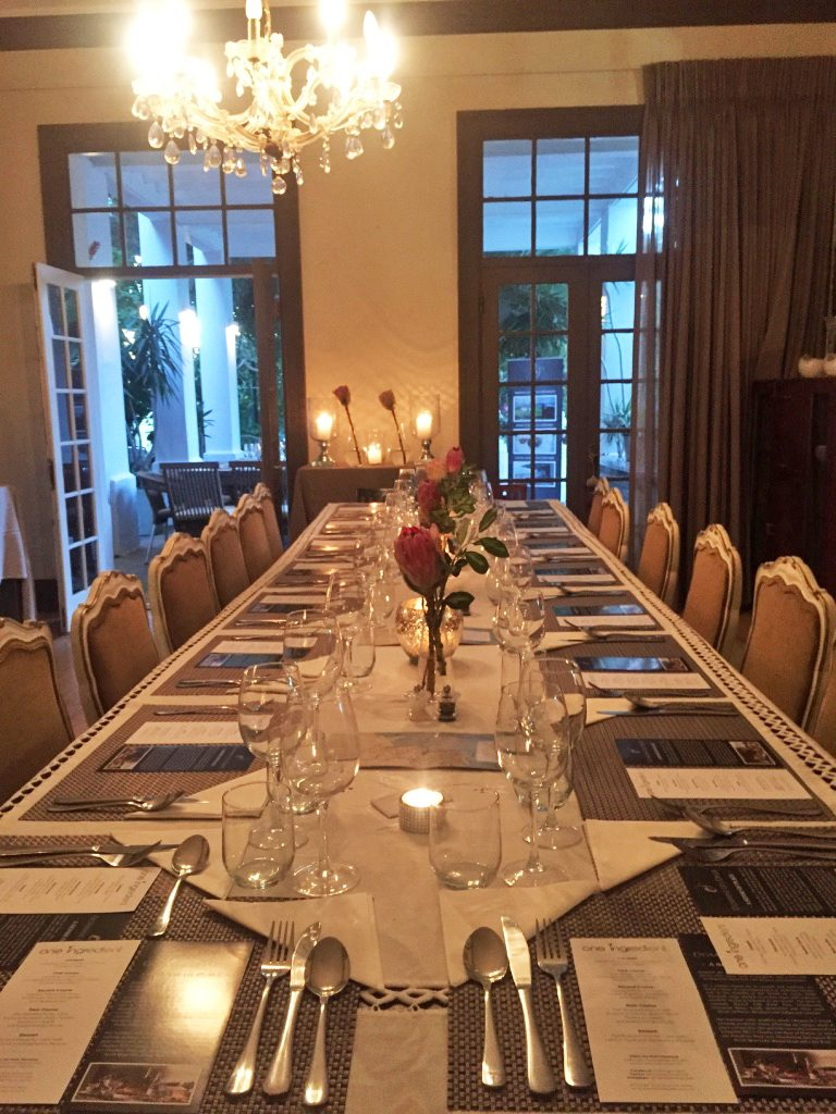 Supper Club Dining room Ginger Lime Fresnaye