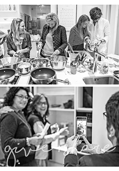 people in kitchen fun Ginger Lime fresnaye cooking class